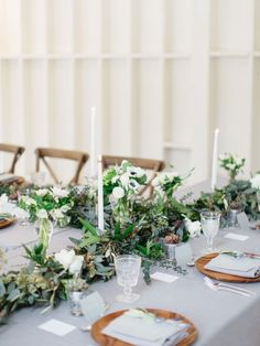 Be Inspired PR Hosts a 6-Course Brunch at Hollywood's Lombardi House | Rue Outdoor Wedding Decorations, Table Decorations, Art Catering, Spring Wedding Inspiration, Wedding Ideas, Wedding Table Settings, Table Wedding, Reception Table, Wedding Mood Board
