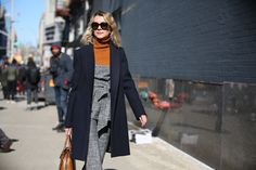 Below-Freezing NYC Street Style That's Still Fire #refinery29  http://www.refinery29.com/2015/02/82279/new-york-fashion-week-2015-street-style-pictures#slide-23  Natalie Joos plays with '70s hues.
