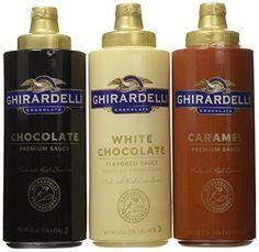 Ghirardelli Squeeze Bottles - Caramel Chocolate & White Chocolate - Set of 3