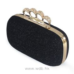 Crystal knuckle ring handle mini Clutch $32.99