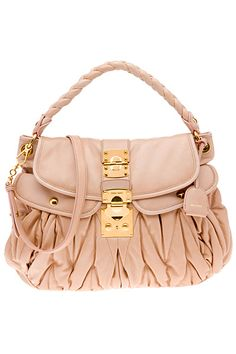 Pale pink handbag