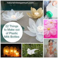 22 Things to Make out of Plastic Milk Bottles. Upcycle your milk bottles into something useful or a work of art!