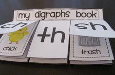 Digraphs book that are perfect to practice CH TH and SH sounds - also go great in interactive reading notebooks!