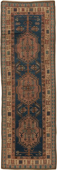 Antique Rug,Antique Carpets,Antique Persian Rugs,Tabriz Rugs,Custom Rugs - Antique Persian Serab Runner BB5461