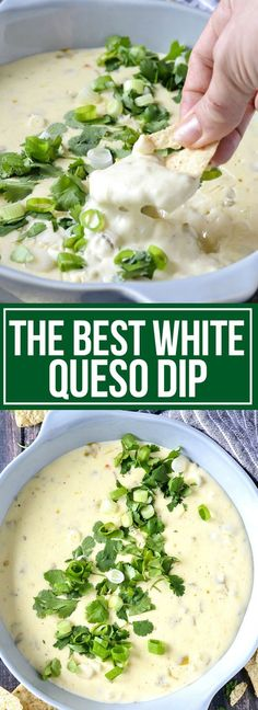 Get ready to dive into The Best White Queso Dip! If you like restaurant-style white queso dip like Moe's then you're going to love this easy dip!