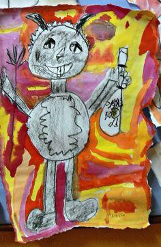 Tvoříme s dětmi  ☺: Prvňáčci se  čertů  nebojí...... Diy And Crafts, Crafts For Kids, Expresso, Archetypes, Yule, Art For Kids, Ronald Mcdonald, Fairy Tales, Kindergarten