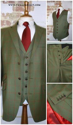 """3 piece suit cut from 340gr Porter & Harding """"Glorious Twelfth"""" 25326 from Harrisons of Edinburgh, with rich shot-satin lining. Visit our website for more tweed addiction... http://www.tweedaddict.com/"""
