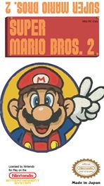 """This is the Japanese famicom version of Super Mario Bros. 2 which we know as the Lost Levels. The north american version of SMB2 is actually a famicom game titled """"Doki Doki Panic"""" which had the graph"""