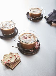 Learn how to make Peppermint Mocha Latte . MyRecipes has tested recipes and videos to help you be a better cook Fun Cooking, Cooking Light, Cooking Ideas, Leftover Coffee Recipe, Starbucks Peppermint Mocha, Fat Free Milk, Latte Recipe, Winter Drinks, Unsweetened Cocoa