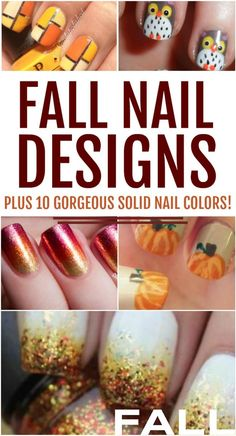 Discover all the trendiest fall nail designs to wear this season. The changing leaves have nothing on these gorgeous ideas and colors. Cute Nail Art Designs, Pink Nail Designs, Fall Nail Designs, Nude Nails, Acrylic Nails, Gel Nails, Manicures, Nail Polish Trends, Fall Nail Colors