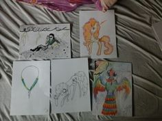 I found some drawings I made at school in art class.  (Loreëlla wolf.