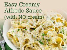 Weekly Wonders: Week 65 :: Meal Time -- Homemade Creamy Alfredo Sauce (with just milk, no cream!)