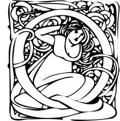 """Art Nouveau """"Q"""""""