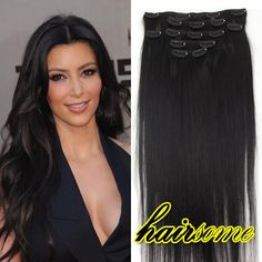 Details about lot full head 161820222426 clip in 100 remy details about lot full head 161820222426 clip in 100 remy real human hair extensions pmusecretfo Images