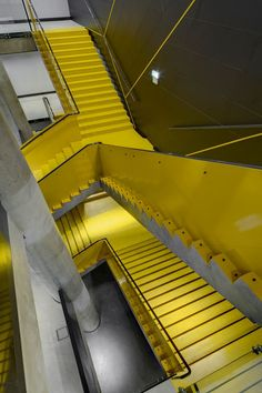 Interior Of Multipurpose Hall Forum Karlín - Picture gallery #architecture #interiordesign #staircases #yellow