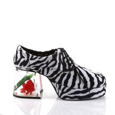 ecb16ca6fa63 Black White Zebra Fur Mens Platform 70s Disco Pimp Costume Shoes size 10 11  12