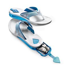 These are brilliant! Reef flip flops with a hidden compartment for money and keys