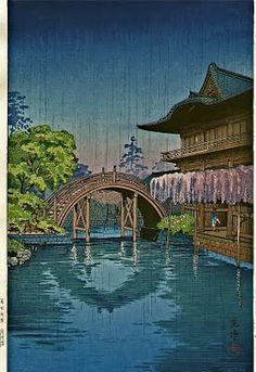 Kameido Temmangu (Kameido Shrine, Tokyo), by Tsuchiya Koitsu, 1933