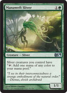 Manaweft-Sliver-x4-Magic-the-Gathering-4x-Magic-2014-mtg-card-lot-mana-green