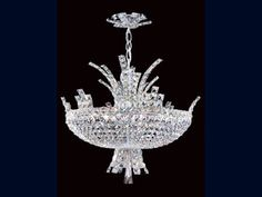 Luxury Crystal Eclipse 12 Light Pendant Ceiling Light featuring in programmes such as Downton Abbey