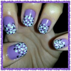 NAILS purple and dottings points funny - Arte en tus uñas by Nails Da -  Twitter --> https://twitter.com/Nails_Da Facebook --> https://www.facebook.com/NailsDa Instagram: http://instagram.com/nails_da
