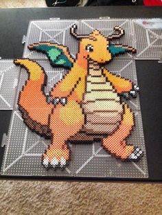Dragonite Pokemon perler beads by xXXxNightShadexXXx