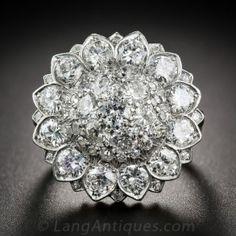 Diamond Sunflower Cocktail Ring