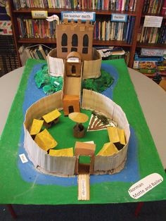 These were very very big...great fun to make....not so great for storing. Motte and Bailey Castle