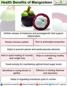 Health benefits of mangosteen include reduced risk of cancer, inflammation, allergies and diabetes. It has antioxidant, antifungal, antibacterial properties which help in protecting the body against various health ailments and also boosts immune system. Mangosteen is beneficial in maintaining healthy skin, weight management and providing relief from diarrhea and dysentery.