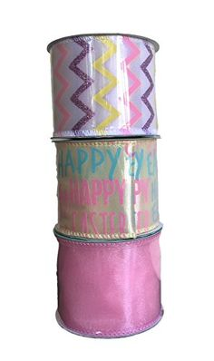 Happy Easter 9 ft Tinsel  Ribbon  Set of 2