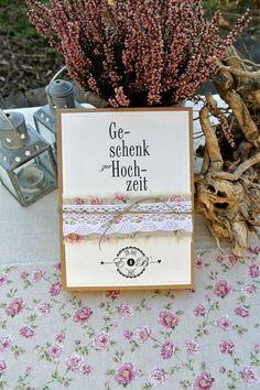 Geldgeschenke - Geldgeschenk Hochzeit Schachtel - ein Designerstück von Papierwiese bei DaWanda