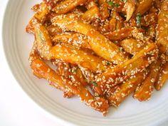 Sesame Honey Chilli Potatoes Recipe