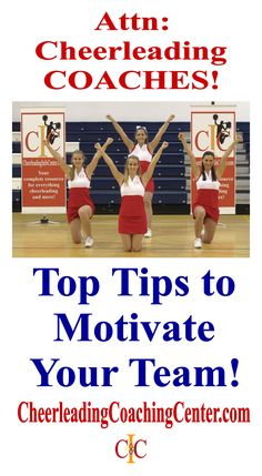 Motivating your cheerleaders is a key to your success. Here are some easy tips that you can use at the end of your practice to motivate your athletes between practices. CheerleadingCoachingCenter.com
