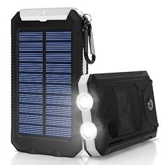 Solar Charger10000mAh Solar Power Bank Portable External Backup Battery Pack Dual USB Solar Phone Charger with 2LED Light Carabiner and Compass for Your Smartphones and More White ** Click for more Special Deals #SolarCharger Solar Phone Chargers, Solar Charger, Special Deals, Solar Power, Compass, Smartphone, Usb, Solar Energy