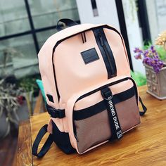 Students Book Bags Nylon Net Patchwork Gym Bag Backpacks is designer and cheap on Newchic. Trendy Backpacks, Kids Backpacks, Backpack Bags, Fashion Backpack, Mochila Adidas, Kids Luggage, Insulated Lunch Bags, Baskets, Nylon Bag