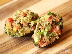 Tuna Stuffed Avocados – An easy, fresh & healthy meal! #OceanNaturals