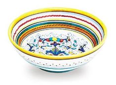 "This beautiful cereal/fruit bowl features the classic Ricco Deruta pattern, which dates back to the 14th century. 7"" diameter x2.75"" height Online Course: The Most Important Guide On Dieting And Nutrition Are You Fed Up Because You Don't Have A Clue About Nutrition?  Have A Look At... see more details at https://bestselleroutlets.com/home-kitchen/kitchen-dining/dining-entertaining/bowls/cereal-bowls/product-review-for-arte-ditalia-imports-hand-painted-ricco-cereal-b"