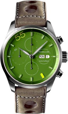 Raidillon Watch Design Chronograph Limited Edition #add-content #bezel-fixed #bracelet-strap-leather #brand-raidillon #case-material-steel #case-width-42mm #chronograph-yes #date-yes #day-yes #delivery-timescale-call-us #dial-colour-green #gender-mens #limited-edition-yes #luxury #movement-automatic #new-product-yes #official-stockist-for-raidillon-watches #packaging-raidillon-watch-packaging #style-dress #subcat-design #supplier-model-no-42-c10-130…