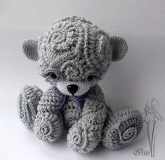 NOT FREE, but OMG AMAZING YARN: Textured amigurumi teddy bear Would love to find a pattern for something like this (or have the skill to make design one), swoon xox