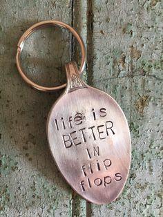 life is better in flip flops {key chain}
