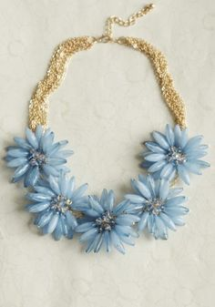 french fields floral necklace