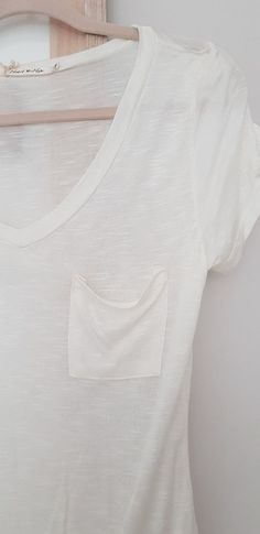 M/&S Size 18 Stretch Viscose Striped  V Neck Top with Chiffon Trim Bnwt Ivory Mix