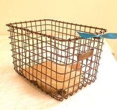 ***vintage books wire basket  $50