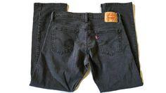 """LEVIS 514 Slim Straight Classic Fit Jeans Black Size 34"""" x 30"""" Men's  #Levis #ClassicStraightLeg"""
