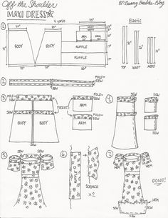 Off the Shoulder Maxi Dress by Bunny Baubles Blog Instructions