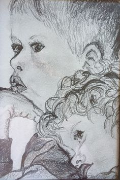 Nathan and Tia. Pencil on Canson. Charcoal, Pencil, Pastel, Portrait, Art, Art Background, Cake, Headshot Photography, Kunst
