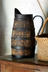 old wooden pitcher