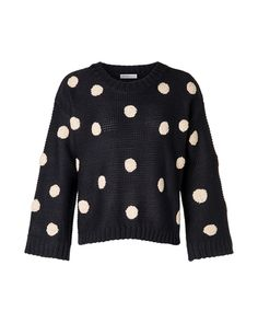 64af04a5c3a Black   White Polka Dot Sweater