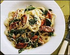 Sausage and Spinach Vermicelli