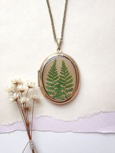 Two Ferns Locket  Bo